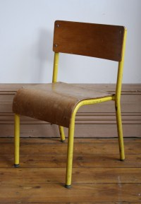 Small Yellow School Chair - Agapanthus Interiors