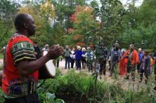 Edgar opening tree-planting ceremony