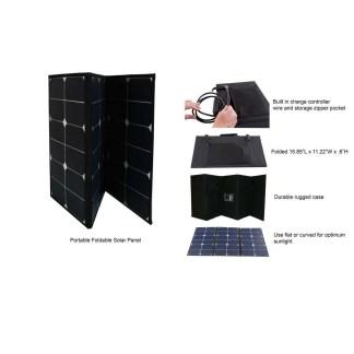 60 watt folding solar panel w/case
