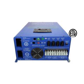 12Kw pure sine inverter charger 48VDC 240VAC input to 120/240 VAC split phase output ETL listed