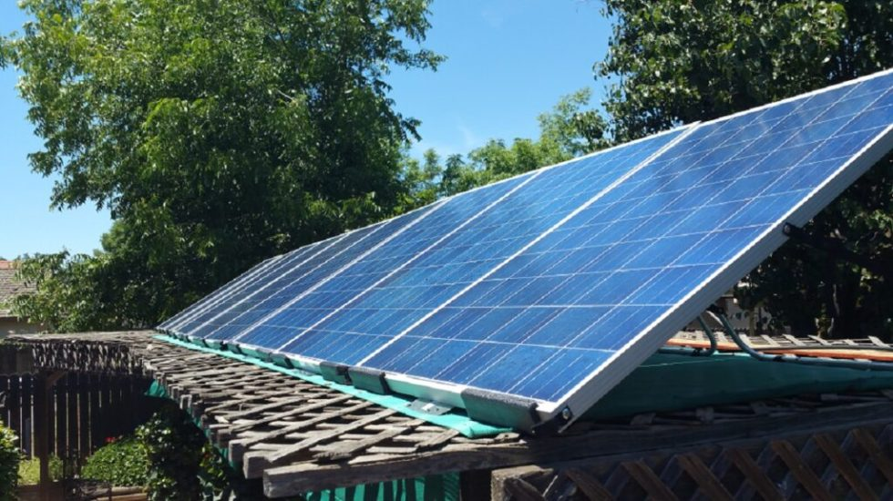 DIY tilt mount system was our first off-grid solar project.