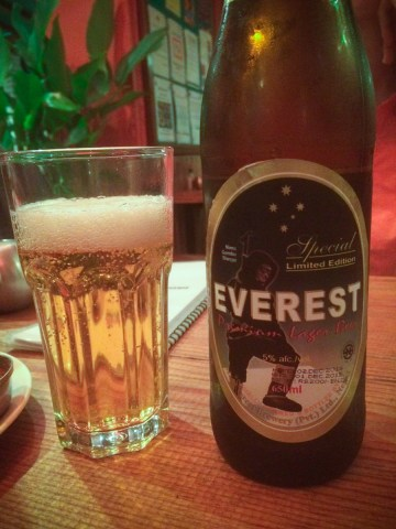 Jordan's Nepali Drink of Choice: Everest Beer