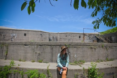 Touring Fort Wool.