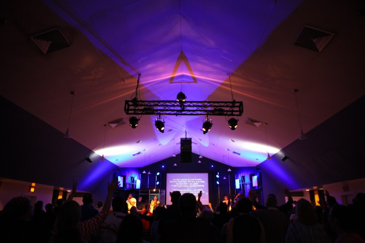 God's presence was surely felt worshiping at Freedom Life Church in Hampton, VA at their Saturday night service where they combined forces with another Spanish-speaking congregation.