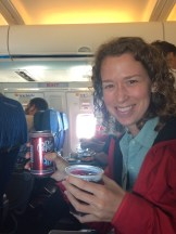 On our American Airlines flight home, they had Dr. Pepper on the airplane! It's the small things in life that make you so happy!