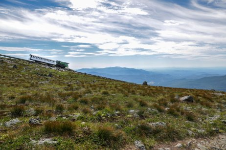 The Cog Railway — one of the many ways you can summit Mt. Washington.