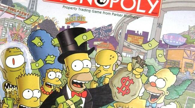 Versión de los Simpsons del juego Monopolio