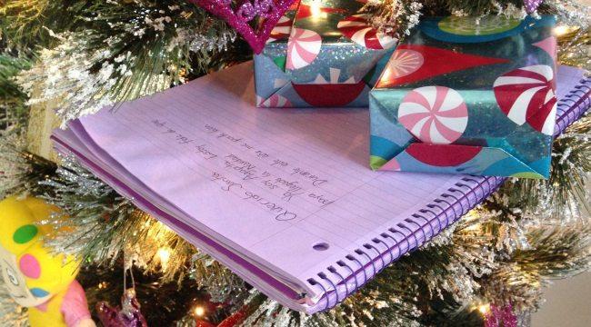 Carta de Navidad a Santa Claus o los Reyes Magos