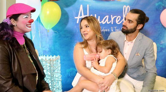 Entrevista de Agapita a Adamari Lopez y Toni Costa con Alaïa