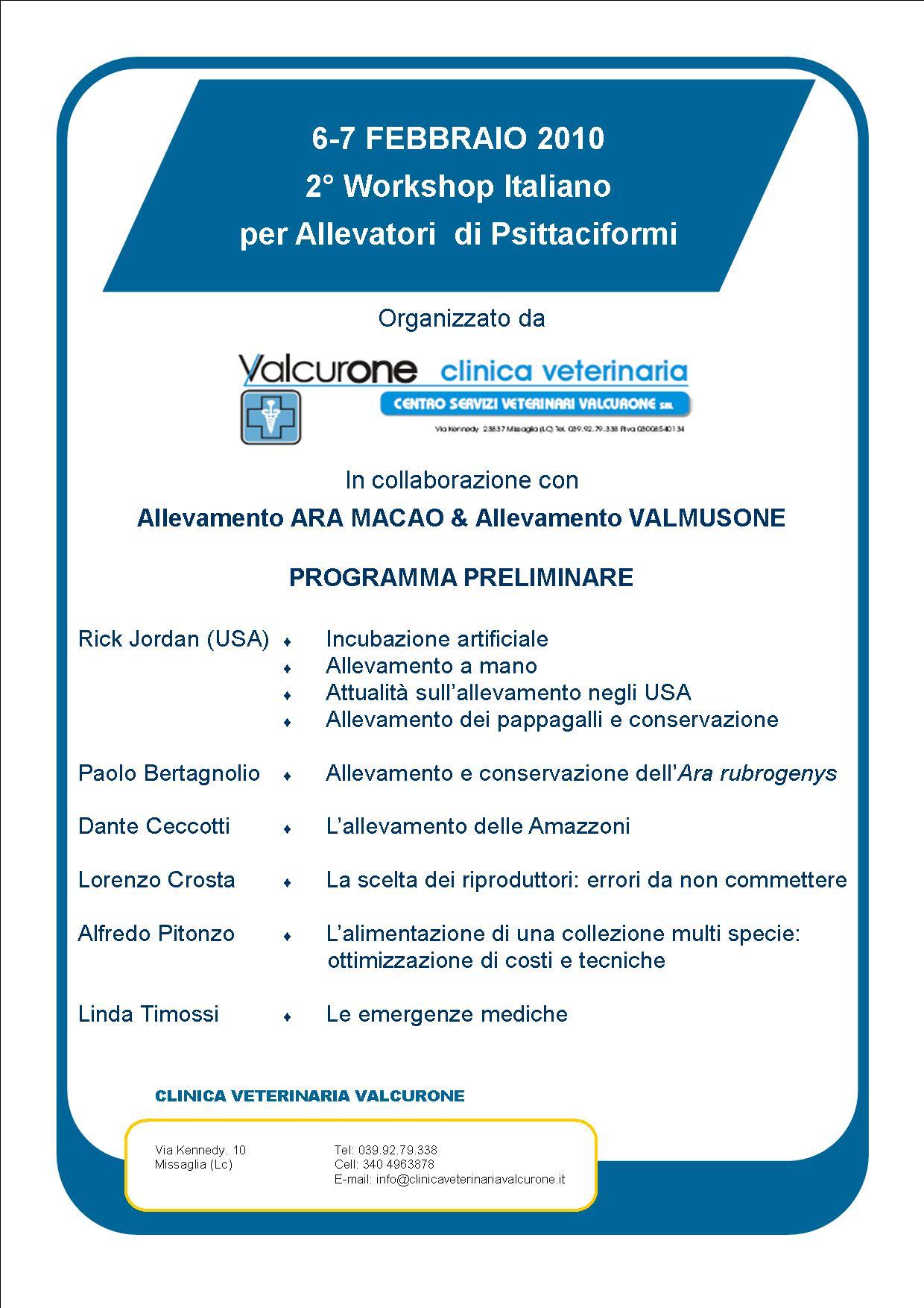 2° WIAP programma preliminare
