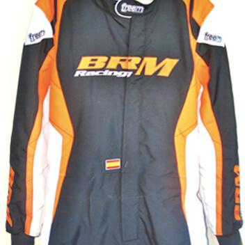 equipación mono piloto brm racing