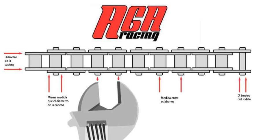 como medir una cadena AGA Racing tienda online karting