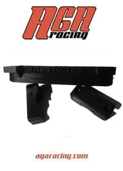 Kit protector de disco de freno trasero color negro