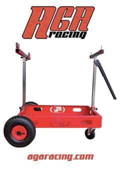 carro porta kart rueda con recámara