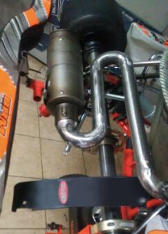 colector de escape para motor de 4T