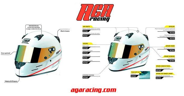 casco karting niño omp kj8 evo aga racing tienda karting