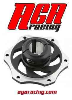 porta disco kart de aluminio para eje de 30mm AGA Racing tienda de karting