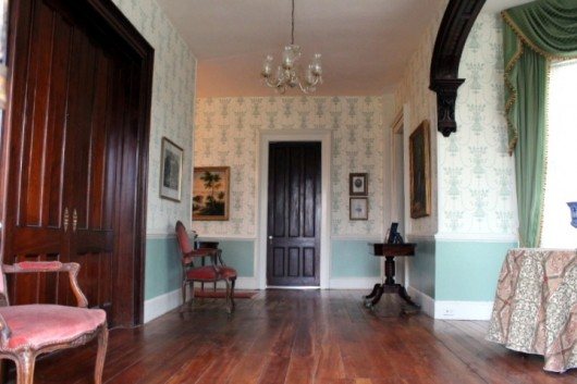 The Entrance Hall, Before & After Papering