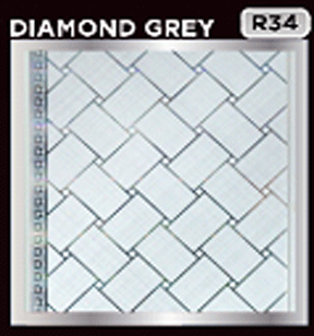 plafon pvc motif diamond gray