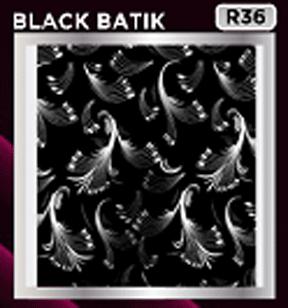 plafon pvc motif black batik