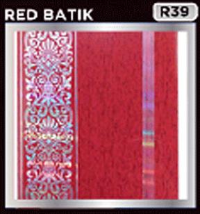 rp;afon pvc motif red batik