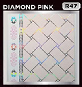 plafon pvc motif diamond pink