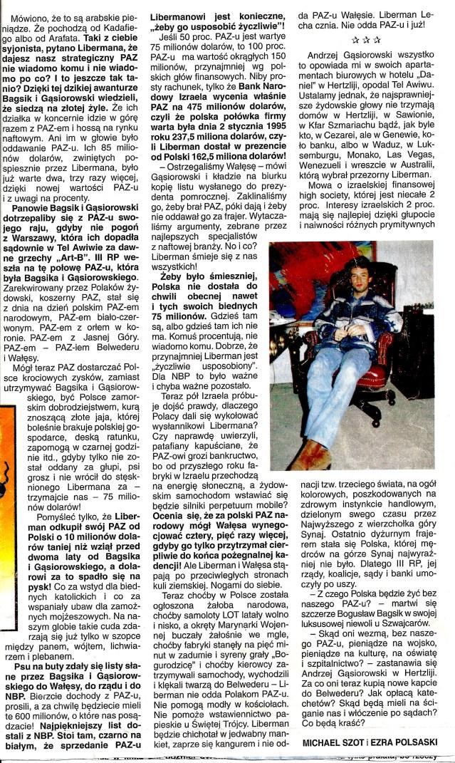1995.02.01 NIE - Paztwisko Libermana 2