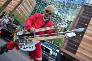 Matthew C. Copley plays his guitar at Comicon in downtown Phoenix Saturday afternoon.