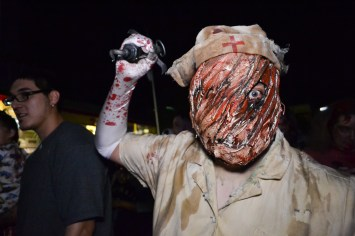 Zombies and other characters take over downtown Phoenix during the Zombie Walk on October 24, 2015.