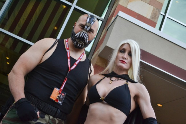 Wayne Crenshaw (left) and Teri Crenshaw (right) pose together for a picture at Comicon in downtown Phoenix Saturday afternoon.