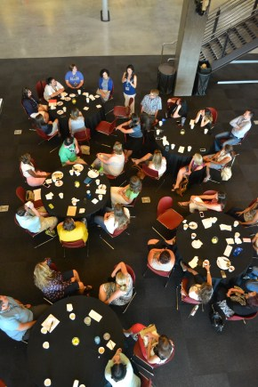 Teachers listen introductions during the ASNE Program in The Walter Cronkite School Of Journalism on June 21, 2015.