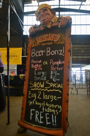 A sign showing all the different drinks availible at the Scottsdale Beer Palooza on June 20, 2015.