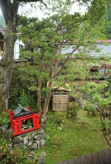 View of the garden out of our room window. (Photo by JF)