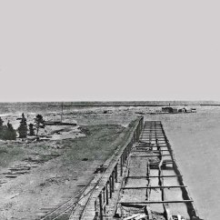 Coast Guard Point in 1890 showing early lumber and fishing docks
