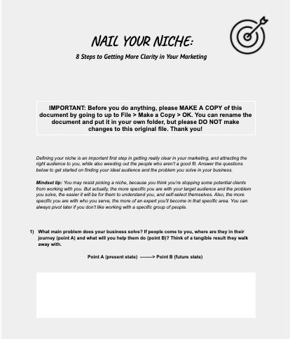 Nail Your Niche