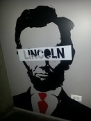 I love the decor in Music Dealers' West Loop space. I mean - Lincoln IS my idol