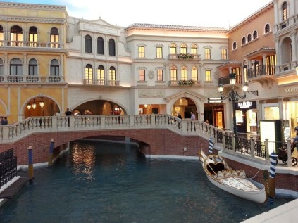 Canals inside The Venetian