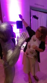 art institute modern wing evening associates night heist gala charles ray silveer body paint