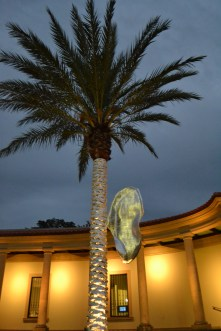 piotr janowski exhibit curiousity museum of fine art st petersburg florida polish artist aluminum reynold's wrap palm trees
