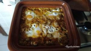 Tajine œuf boulettes de viande