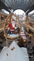 2018BE0109-Berlin-Mall of Berlin-Pere Noel suspendu