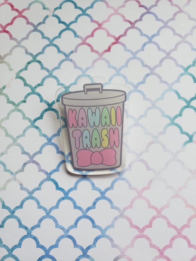 kawaii trash can pin