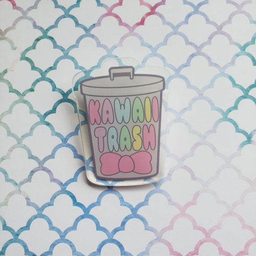 kawaii trash can pin