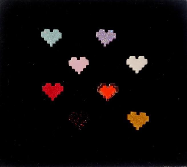pixel heart rings