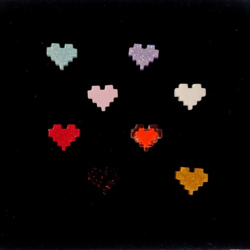pixel heart rings