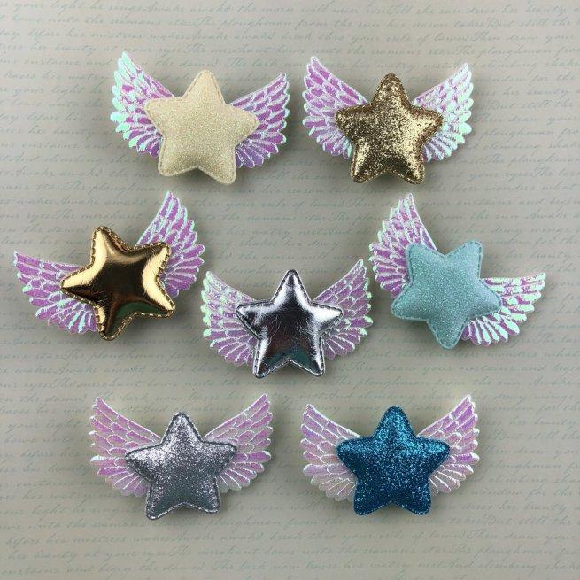 star wing hair pins