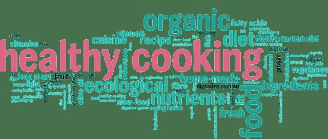 healthy cooking word cloud