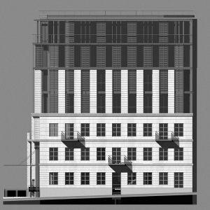 Centrum Chopinowskie projekt konkursowy - Warszawa ul.Tamka