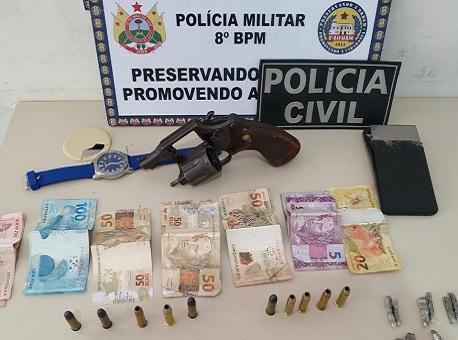 Policiais civis e militares prendem dois suspeitos
