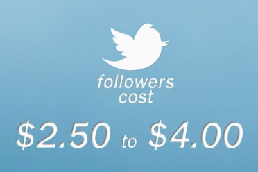 What does it cost to acquire a Twitter follower?